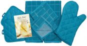 Home Collection 8 Piece Kitchen Towel Set with Dish Cloths, Pot Holders, and Oven Mitt Bundle